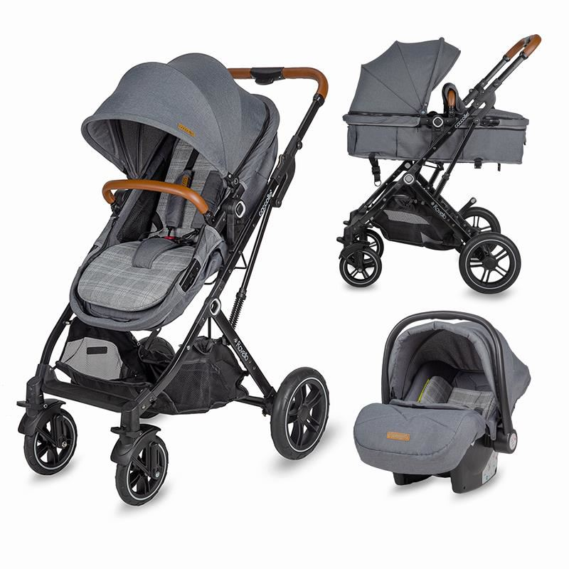 Carucior 3in1 ultracompact Coccolle Ravello Urban Grey