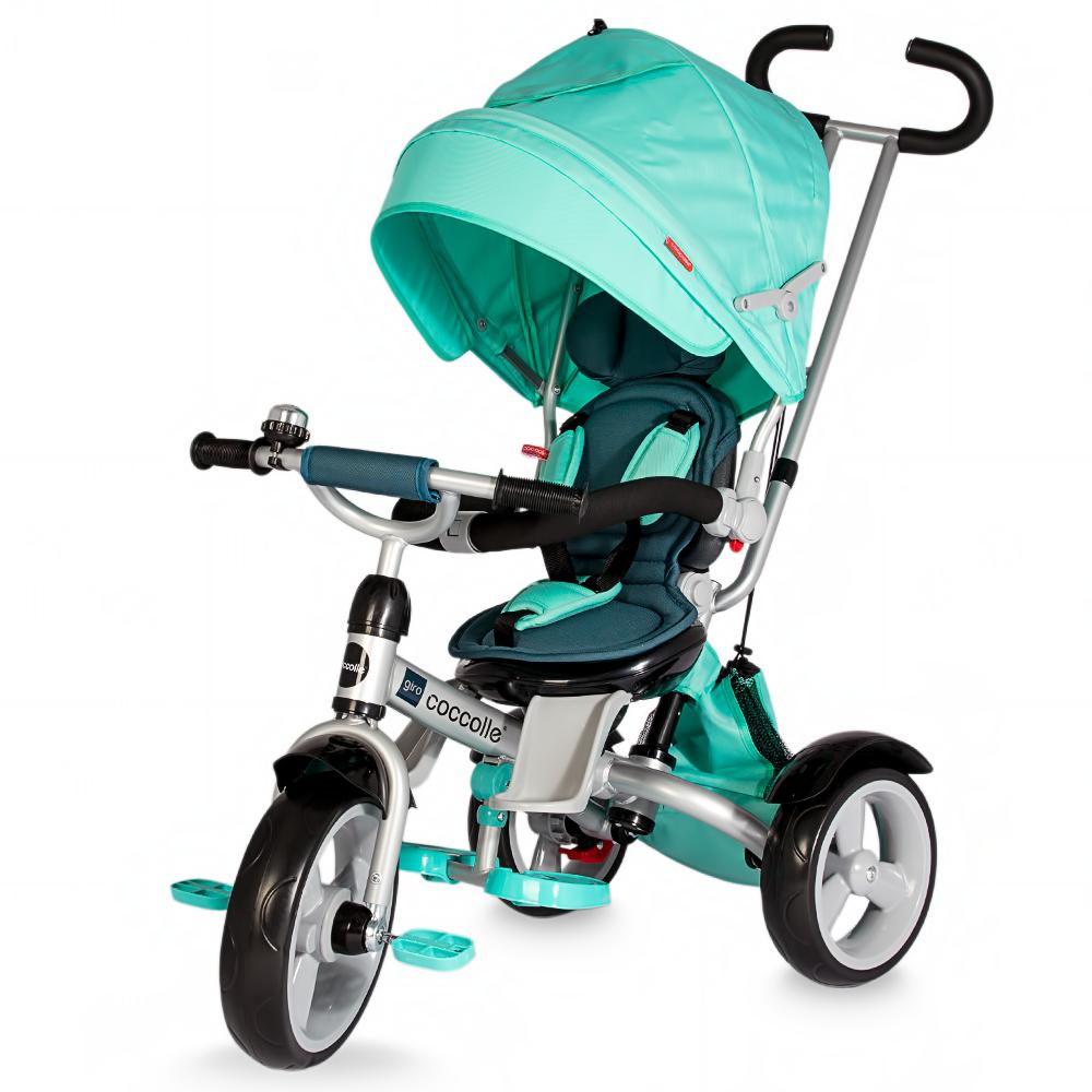 Tricicleta Coccolle Giro Multifunctionala Verde