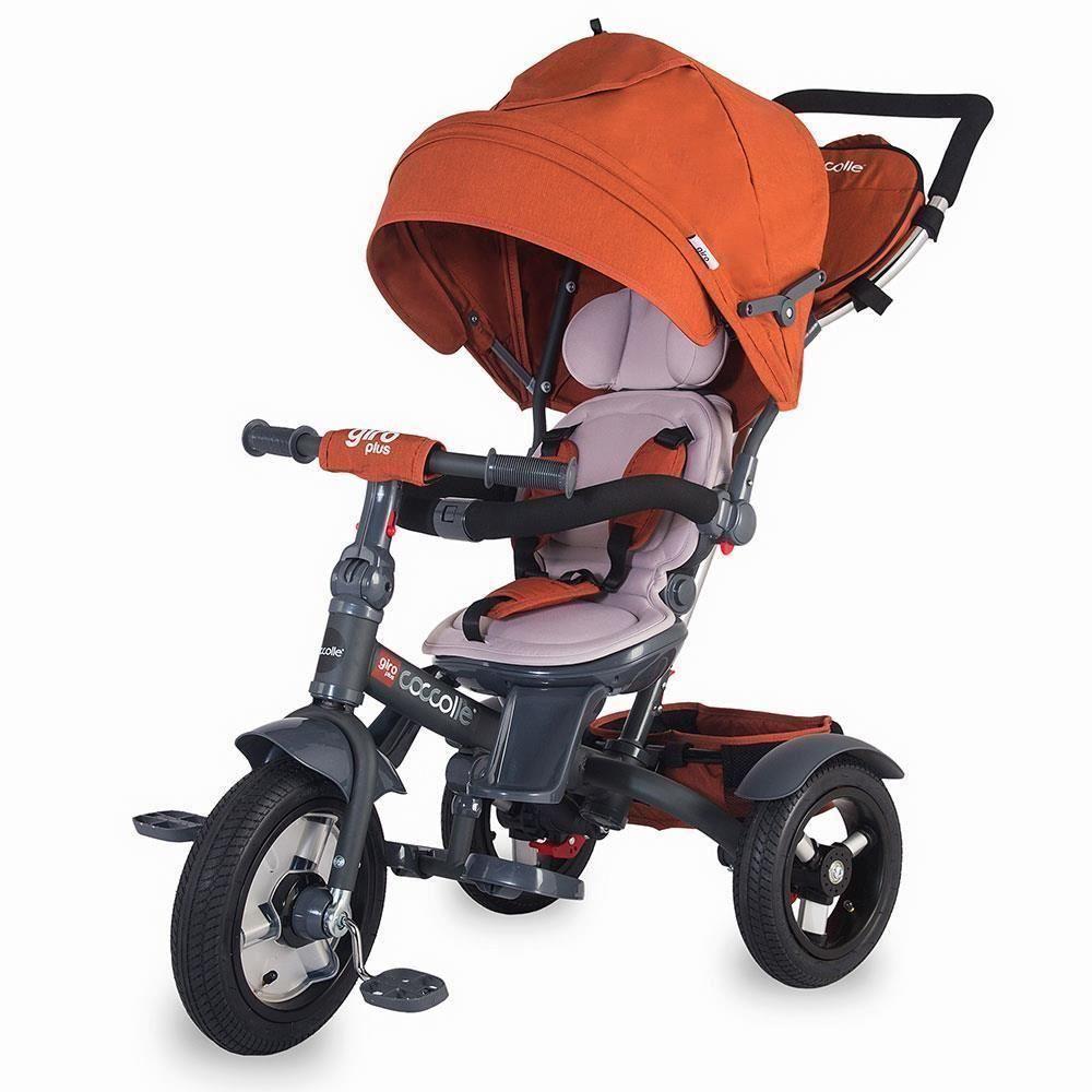 Tricicleta Multifunctionala Coccolle Giro Plus Caramiziu